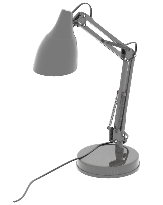 An example render of the 3D lamp model