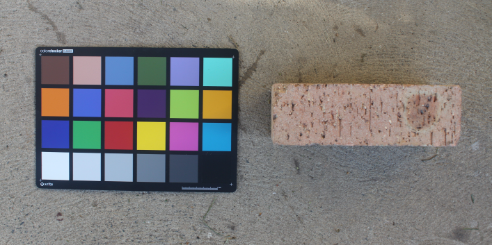 An example photo next to a brick to be measured