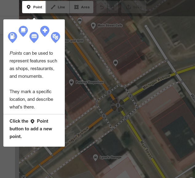 OpenStreetMaps iD web-based editing software