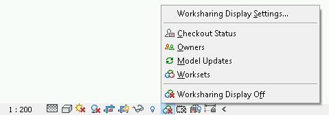 Revit worksharing display mode options