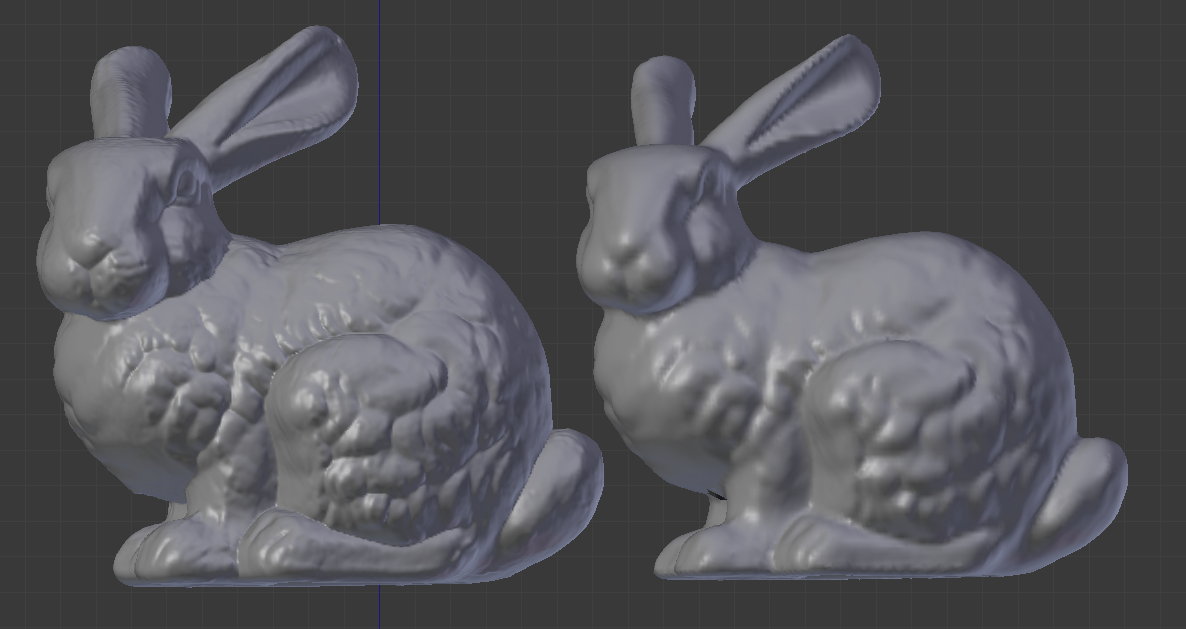 Metaball reconstruction of the Stanford bunny